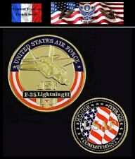 Pièce plaquée OR ( GOLD Plated Coin ) Etats-Unis US Air Force F-35 Lightning II