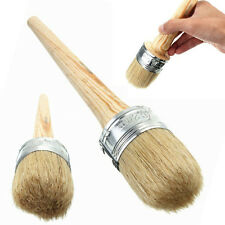 Round Bristle Wooden Handle Paint Wax Chalk Oil Painting Removal Brush 50mm