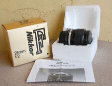 Nikon Nikkor 28mm F2 AI-S manual focus lens in box film/digital 28 mm F/2 AIS