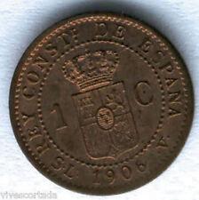 Alfonso XIII 1 Centimo 1906  Cadete @@ SIN CIRCULAR @@