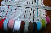 Dbl Faced Suede String Ribbon 3mmWide 1mmThick 3Metres 12 Colour Choice 395 Ver3