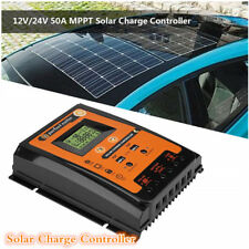 12V/24V LCD Display Panel Charger Regulator MPPT Solar Charge Controller 2 USB