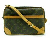 Auth LOUIS VUITTON Monogram Trocadero 27 M51274 Shoulder Bag PVC Leather 86272