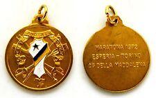 Medaglia Con Vernice Società Canottieri Esperia Torino Maratona 1972 Colle Della