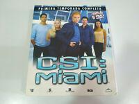 CSI Miami Primera Temporada Completa Caja Grande - 6 x DVD Español Ingles - 3T