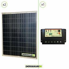 Kit Solare Fotovoltaico 160W 12V  Regolatore di Carica PWM 20A Baita Illuminazio
