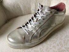 Pantofola D'oro 38 EU 8 US Silver Leather Sneakers Gym Shoes Stan Smith Laces