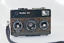 Rollei 35 film camera Crocodile leather edition Carl Zeiss Tessar 40/3.5 krokodi