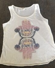 O'neill girls White tank top Hands Hindi Eye medium Excellent