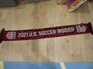 NWT USA Soccer Insider 2021 Red/Blue Away Jersey Print Style Scarf