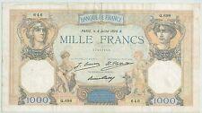 BILLET 1000 FRANCS CERES ET MERCURE 4 JUILLET 1928 B 646 Q 968