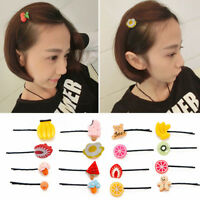 5pcs Charming Fashion Hairpin For Hair Clip Accessories Vegetable Fruit Design