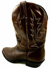 Boulet Canada  Western All Leather  Boots Brown Size 10 USA.