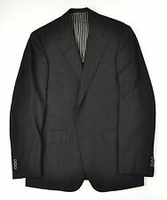 2005 OXXFORD Black Hopsack 2 Pewter Button 1/4 Lined Blazer SUPER USA Made 38