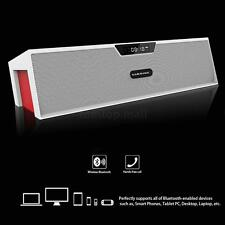 LCD Wireless Bluetooth Stereo Speaker w/ FM Radio USB TF SD USB Alarm Clock 44JP