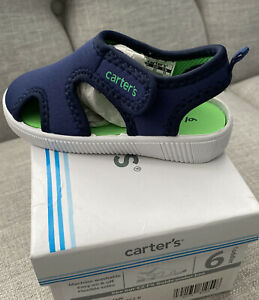 Carter's Unisex Child Troy Water Shoe sneakers Size 6Toddler. NIB