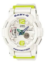 Casio Baby-G * BGA180-7B2 Anadigi GLide White & Apple Green COD PayPal