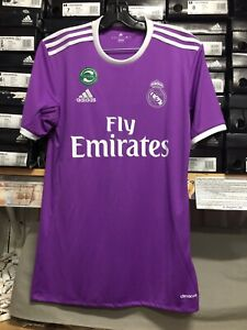 Adidas Real Madrid Away Jersey Super Classic Purple Jersey Size Large  Only