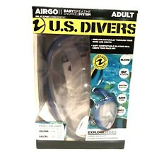 New listing NWT US Divers Airgo II Adult Full Face Snorkel Mask - LG/XL EasyBreathe System.