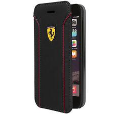 "Ferrari Fiorano Leather Flip Case for iPhone 6/6S 4.7"" Black (FEDA2IFLBKP6BL)"