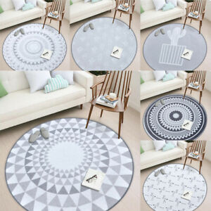 Round Carpet Bedroom Rugs Non-Slip Wear-Resisting Baby Crawling Soft Mats