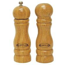 "Bamboo Salt Shaker and Pepper Mill Set / 6"" H"