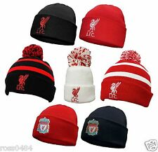 Liverpool FC Official Hat Selection Beanie Bronx Black Red Adult   Kids 7ac82f437c8