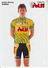 CYCLISME carte  cycliste  ANDRE GEORG WERNLI équipe POLTI