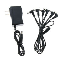 Black 6 Way Guitar Effects Power Supply Cable+Adapter for Guitar Bass Parts