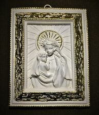 Relief-Ikone - Maria mit Kind