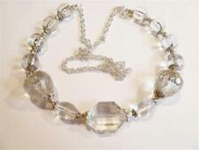 HM0209...PRETTY HANDMADE NECKLACE - CLEAR BEADS - FREE UK P&P