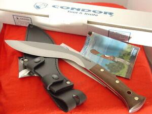 """Condor El Salvador 15"""" Big Fixed Blade Full Tang Heavy Duty KUKURI Knife MINT"""