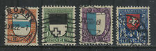 Switzerland 1922 Pro Juventute--Attractive Heraldry Topical (B21-24) fine used