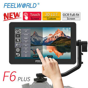 """Feelworld F6 Plus 5.5"""" IPS Touch Screen 3D Video Camera DSLR Monitor 4K HDMI"""