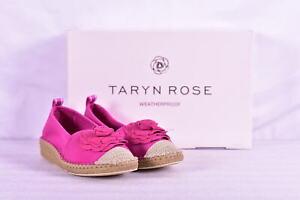 Women's Taryn Rose Quincy Neoprene Flower Espadrille Wedges, Azalea Pink