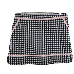 Lady Hagen Womens 12 Navy Houndstooth Golf Tennis Breast Cancer Skort Skirt AZ1