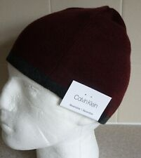 CALVIN KLEIN ~ BEANIE HAT ~ REVERSIBLE ~ AUTHENTIC ~ RUST/ GREY ~ PURE QUALITY