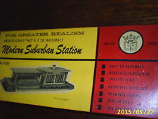 Penny EBAY Auction Free Shipping Vintage Ho Scale Plastic Train Station Kit OLD