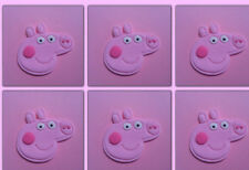 PEPPA PIG CUP CAKE TOPPERS X 6