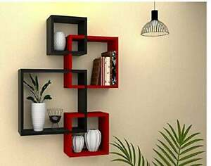Wall Shelf Set Of 4 /Home Decor /Red And Black /Wall decor Gift / Wood