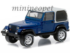 Greenlight 29830 D Country Roads 1990 Jeep Wrangler Yj Hardtop 1/64 Blue