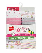 Hanes Toddler Girls' EcoSmart Briefs 10-Pack