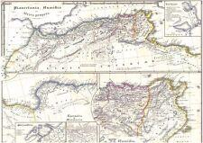 Echte 167 Jahre alte Landkarte MAURETANIA Carthago NUMIDIA Alexandria 1850