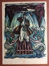 USSR Ukeraine postcard 1962 Ukrainian folk tale Poor guy Ukraine Cossack Mermaid