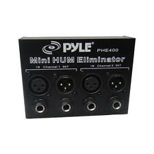 "New Pyle PHE400 Hum Noise Eliminator 2-Channel Box W/ 1/4""  TRS Phone  XLR Jacks"
