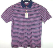 Peter Millar Summer XL Crown Sport $88 Golf Polo Shirt Striped Polyester Stretch