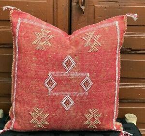 Moroccan cactus silk cushion