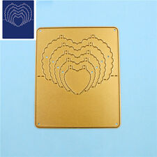 Gold Metal Cutting Dies Stencil 3D Stereo Heart Scrapbooking Embossing DIY Craft