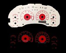 98-03 Chevy S10 Mt w/7000 Rpm Red Indigo Glow White Gauges (I-237)