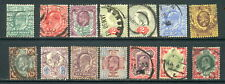 1902-1911 GB Great Britain SC 127-138, 130b & 138a, Used Lot of 14, KEVII*